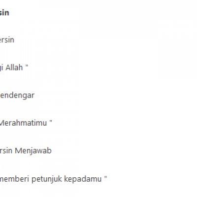 Kumpulan Doa Doa Harian Islam Bahasa Arab Latin Dan Artinya