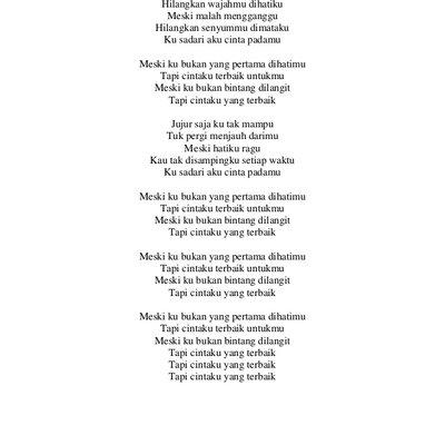 Lirik Lagu Ku Cinta Padamu Shajiry