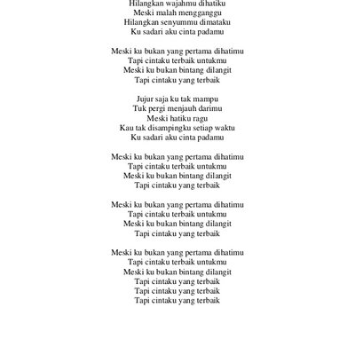 Lirik Lagu Terbaik Bramanthy