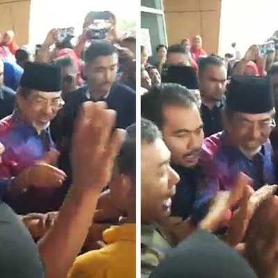 Loud Cheers Greet Ex Cm In First Sandakan Appearance Since Ge14