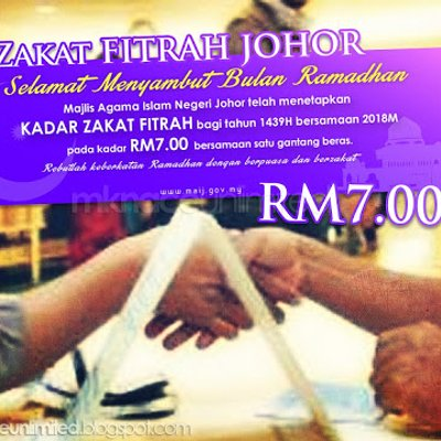 Mainj Tetapkan Zakat Fitrah 2018 Dengan Kadar Rm7 00