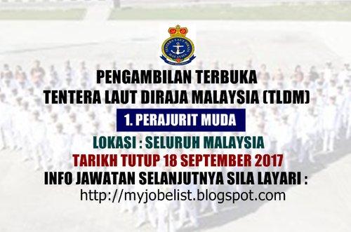 Pengambilan Terbuka Perajurit Muda Tentera Laut Diraja Malaysia 18 September 2017