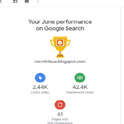 Performance On Google Search For June