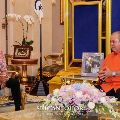 Pm Has Audience With Johor Sultan At Istana Bukit Serene