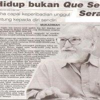 Prof Diraja Ungku Aziz Ungku Abdul Hamid Sang Intelektual