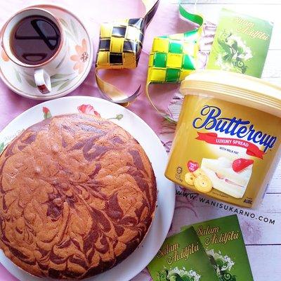 Resepi Kek Marble Susu Buttercup Raya Yang Lembut Moist Dan
