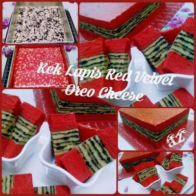 Resepi Red Velvet Oreo Cheese