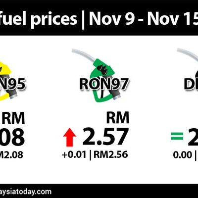 Ron97 Up 1 Sen Ron95 And Diesel Unchanged
