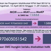 Semak Tawaran Ke Program Matrikulasi Kpm Sesi 2015 2016