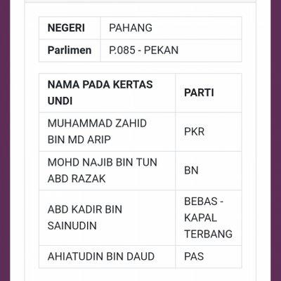 Semakan Senarai Calon Pru 14 Secara Online