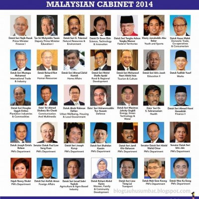 Senarai Lengkap Menteri Kabinet Malaysia