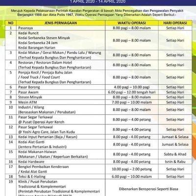 Senarai Sektor Pengilangan Perkhidmatan Yang Dibenarkan Pkp Fasa 3