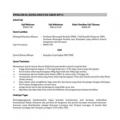 Pengawal Keselamatan Grad Kp11