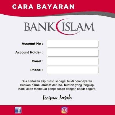 Template Akaun Bank Untuk Peniaga Online