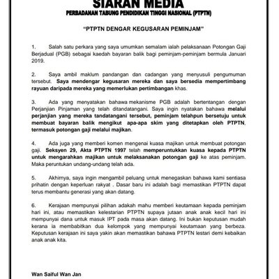 The Ptptn Is Going To Be Pakatan S 1mdb