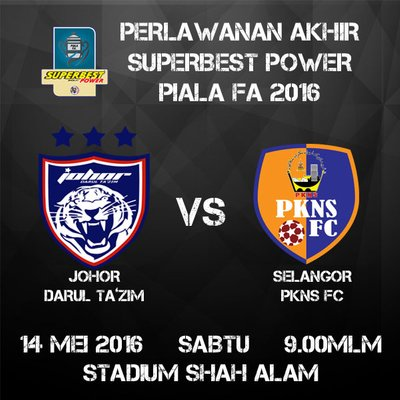 Tiket Final Piala Fa 2016 Jdt Vs Pkns