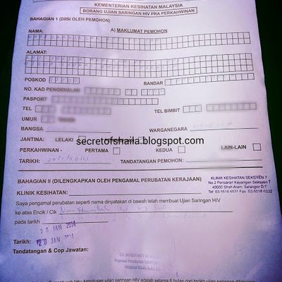 Ujian Saringan Hiv Untuk Pra Perkahwinan Di Selangor