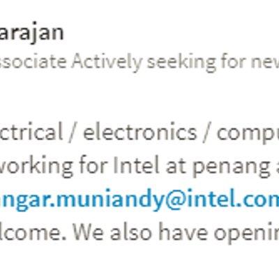 Vacancy Intel At Penang And Kulim