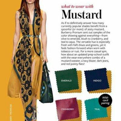 Wordless Kombinasi Warna Pakaian Untuk Warna Mustard