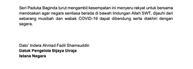 Istana Negara Clears Up The Confusion It Is Not A Titah