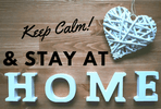 Keep Calm Stay At Home Covid19