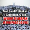 Kerajaan Arab Saudi Tetapkan 1 Dzulhijjah 22 Juli Wukuf Di Arafah Kamis 30 Juli