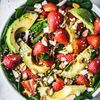 Summer Strawberry Spinach Salad With Avocado