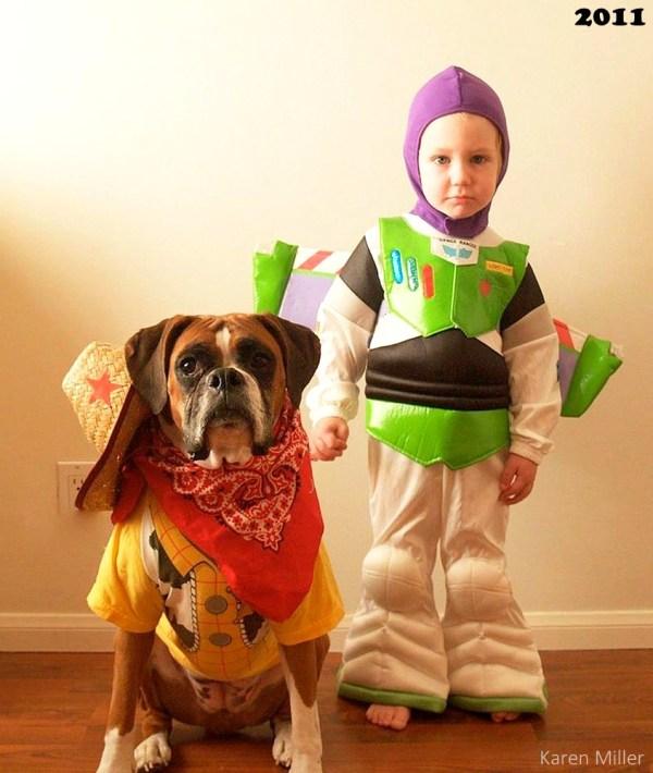 Adorable Dog And Kid Halloween Costumes Ba