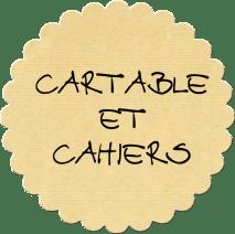 cartable et cahiers