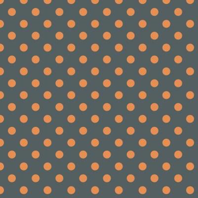 pois orange sur fond gris