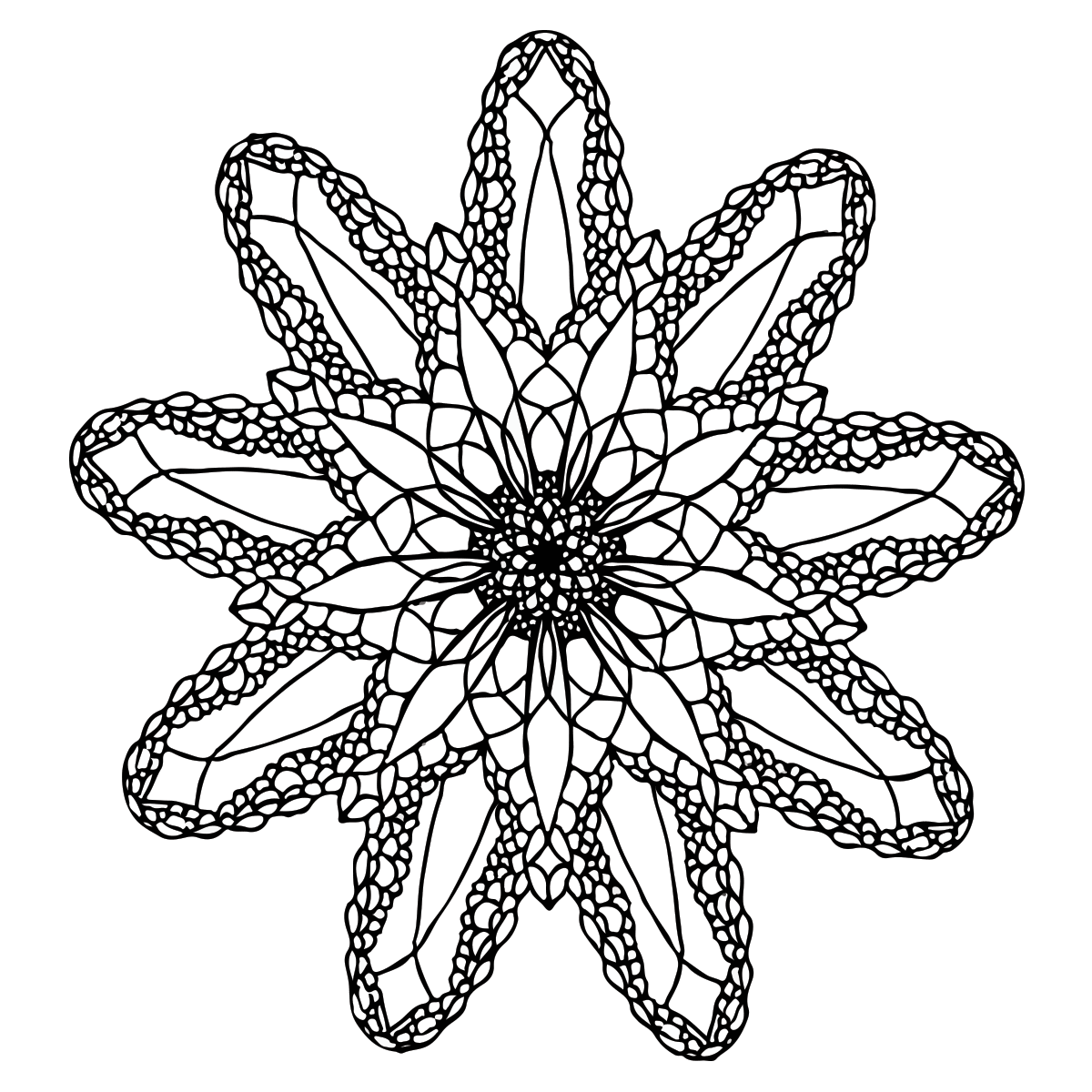 Sea Mandala Coloring Page