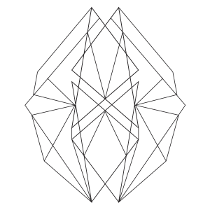 Abstract Geometric 1 Coloring Page