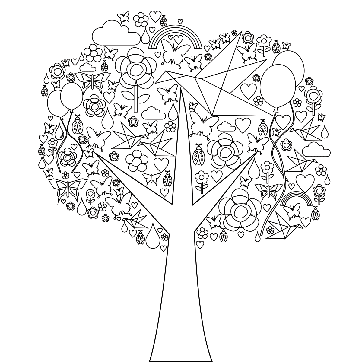 Tree of Life Coloring Page