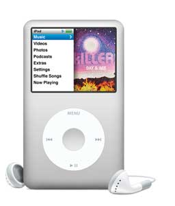 iPod classic silver