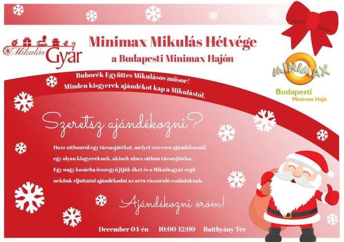 Minimax Mikulás Hétvége plakátja