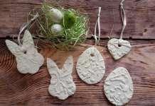 húsvét, húsvéti dekoráció, kézzel készült húsvéti dísz, porcelángyurma