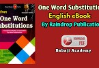 One Word Substitution Pdf : Rain Drop Publication