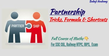 Partnership Formulas and Tricks for Bank Exams and SSC CGL Exam
