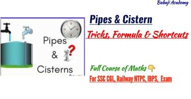 Pipe and Cistern Question, Formulas & Trick For 2019 Exam
