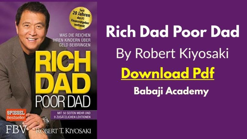 Robert Kiyosaki: Rich Daddy Poor Daddy Pdf: Rich Dad Poor dad Pdf