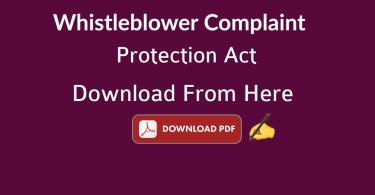 Whistleblower: Complaint, Protection, Audio, Act Pdf Download