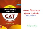 Arun Sharma Quantitative Aptitude Pdf Download: Quantitative Aptitude by Arun Sharma