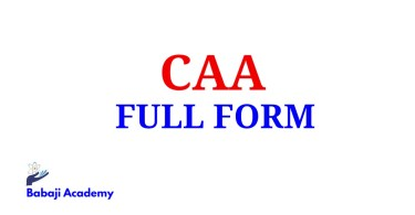 CAA Full Form, Full Form of CAA, CAA Meaning in English