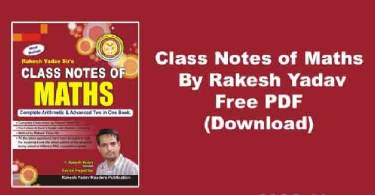 Rakesh Yadav Maths Class Notes Pdf Download
