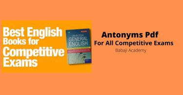 antonyms words pdf