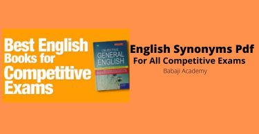 English Synonyms pdf download