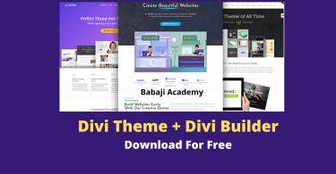 Download Divi Theme v4.9.5 + Divi Theme Layouts, Divi Builder