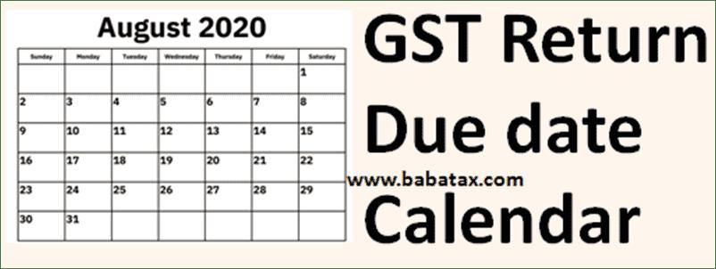 GST return due date