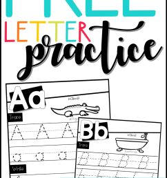 Free Letter Practice Worksheets - Babbling Abby [ 2133 x 1200 Pixel ]