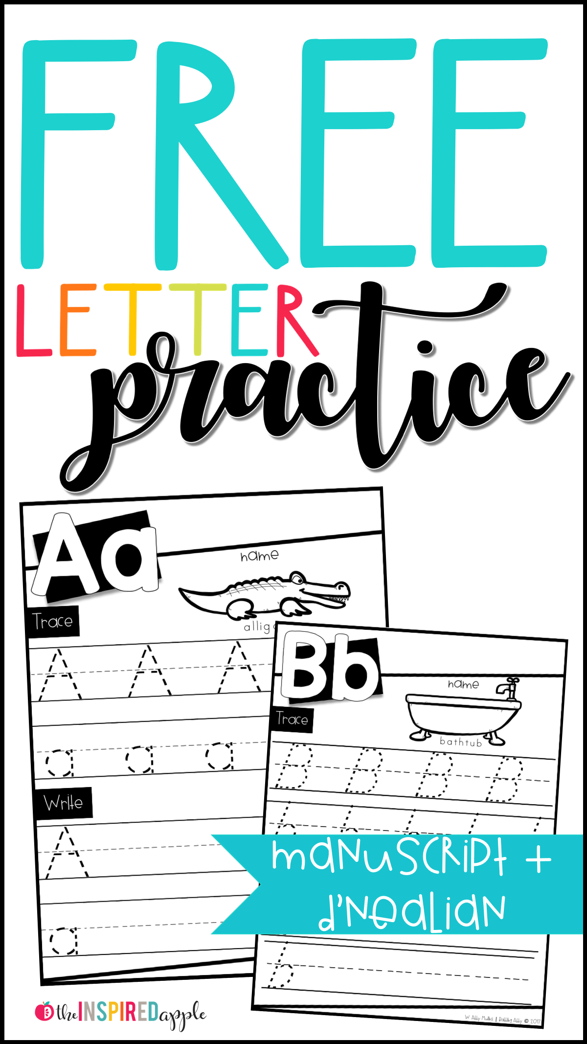 hight resolution of Free Letter Practice Worksheets - Babbling Abby
